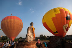 Mongolfiera nel festival internazionale 2009 del pallone della Tailandia Immagine Stock Libera da Diritti