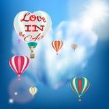 Mongolfiera in una forma del cuore ENV 10 royalty illustrazione gratis