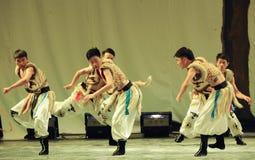 Mongolië mens-2011 dansende het Overlegpartij van de klassengraduatie Royalty-vrije Stock Afbeeldingen