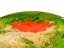 Mongolië op model van Aarde Stock Afbeeldingen