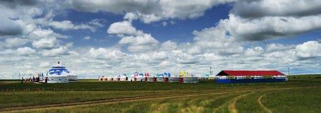 Mongolië Yurts royalty-vrije stock fotografie