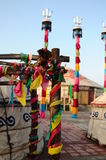Mongoliaânomad Gers (yurt) Fotografie Stock Libere da Diritti