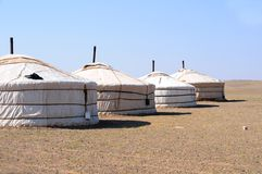 Mongolia – nomad gers (yurt) Stock Images
