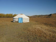 Mongolia. Ger from n steppe Stock Photo