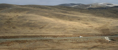 Mongolia - autostrada Zdjęcia Stock