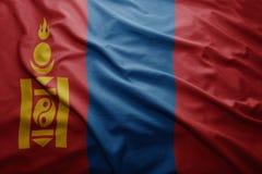 Mongolia bandery Obraz Stock