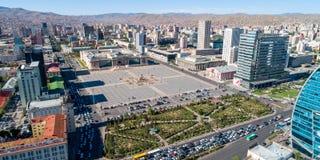 Mongolia capital ulan-bator. Mongolia capital ulaanbaatar city view aerial view royalty free stock photos