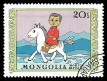 Boy on horseback Royalty Free Stock Photography