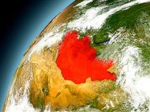 Mongolia de la órbita de Earth modelo Fotografía de archivo