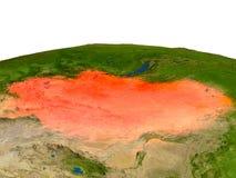 Mongolia en rojo de la órbita libre illustration
