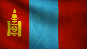 Mongolia flag Royalty Free Stock Image