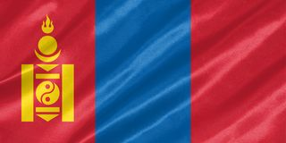 Mongolia Flag stock illustration