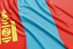 Mongolia flag Stock Photo