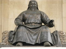 Mongolia - Genghis Khan Foto de Stock Royalty Free