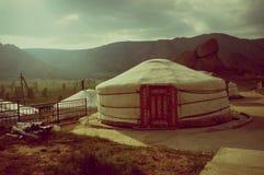 Mongolia Genghis Khan Park Yurt national dwelling royalty free stock images