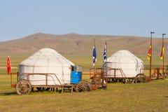 Mongolia Interna Jinzhanghan che visita tribù fotografia stock