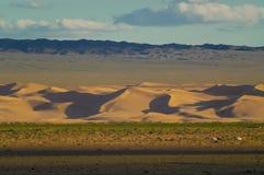 Mongolia landscape with nomad traditional Mongolian yurt Stock Photos