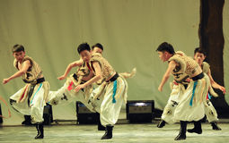 Mongolia man-2011 dancing class Graduation Concert party Royalty Free Stock Images