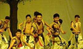 Mongolia man-2011 dancing class Graduation Concert party Stock Images