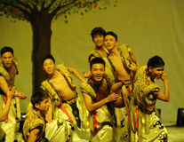 Mongolia man-2011 dancing class Graduation Concert party Royalty Free Stock Photo