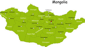 Mongolia map Royalty Free Stock Images