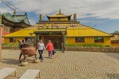 Mongolia - monasterio de Ulaanbaatar - de Gandantegchinlen Fotos de archivo libres de regalías