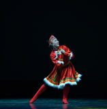 The Mongolia nationality girl-The national folk dance Royalty Free Stock Photo