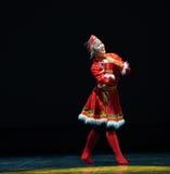 The Mongolia nationality girl-The national folk dance Royalty Free Stock Photography