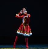 The Mongolia nationality girl-The national folk dance Royalty Free Stock Image