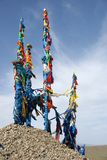 mongolia ovoo Arkivfoton