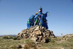 mongolia ovoo Obraz Royalty Free