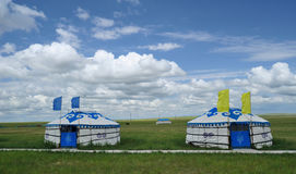 Mongolia packages Yurt Royalty Free Stock Image