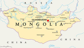 Mongolia Political Map Stock Image