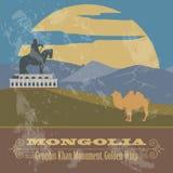 Mongolia. Retro styled image Stock Photo