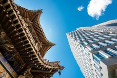 Mongolia roof building royalty free stock image