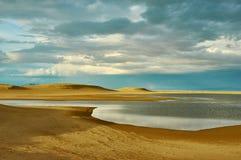 Mongolia. Sands Mongol Els, sandy dune desert