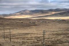 Mongolia - wiejscy budynki Obrazy Royalty Free
