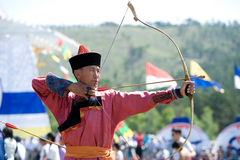 Mongolian archer Royalty Free Stock Images