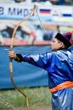 Mongolian archer Stock Photography
