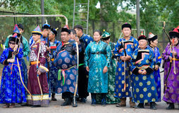 Mongolian archers Royalty Free Stock Image
