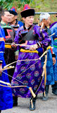 Mongolian archery competition Stock Photography