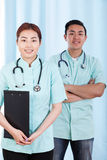Mongolian and asian doctors Royalty Free Stock Photography