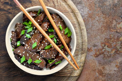 Mongolian beef Royalty Free Stock Images