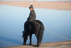 Mongolian boy Stock Photography