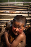 Mongolian Boy Stock Image