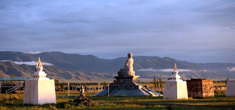 Mongolian Buddha statue Royalty Free Stock Photo