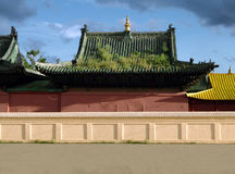 Mongolian Buddhist Monastery. Temple -- Architecture, Exteriors and monuments Stock Photography