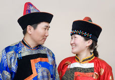 Mongolian couple Royalty Free Stock Photos