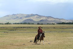 Mongolian Cowboy Stock Photography