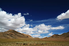 Mongolian desert Stock Image